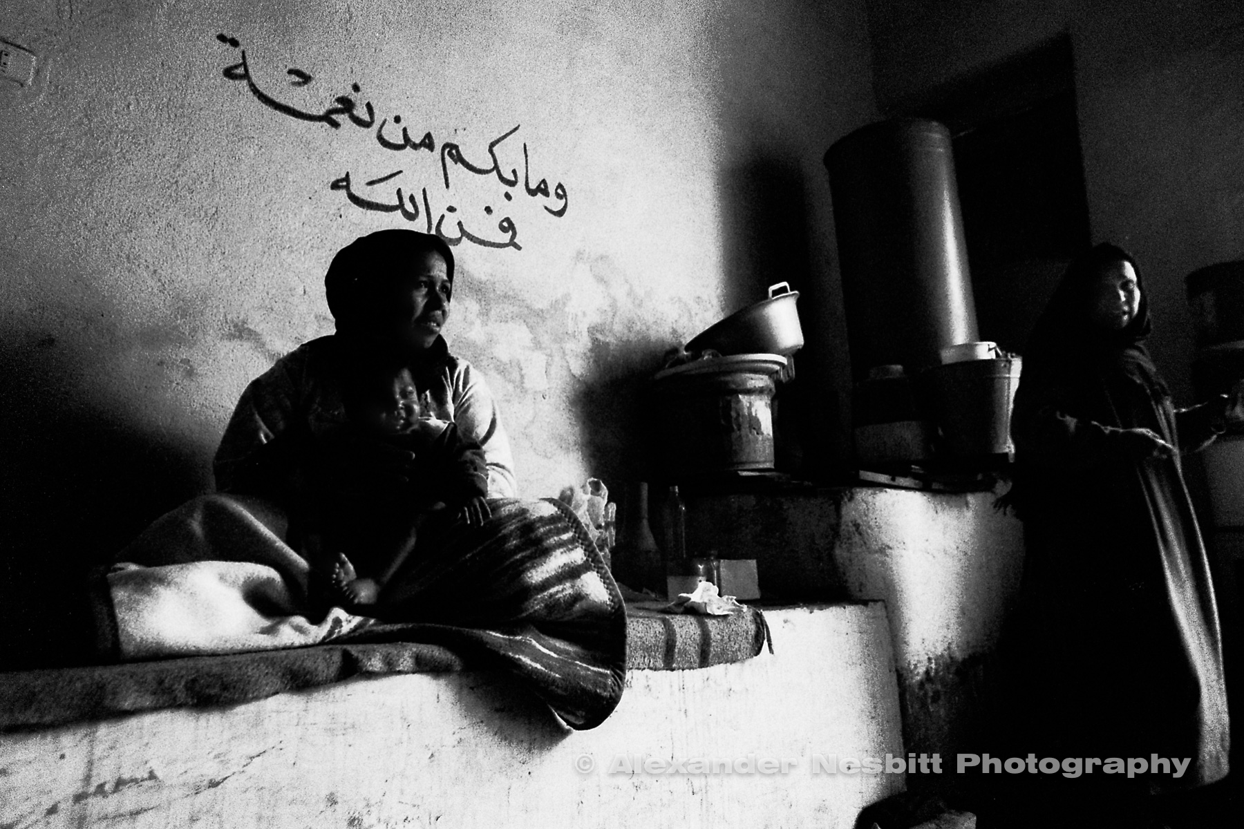 City of the Dead, Cairo - Hassan's daughter in their home.