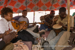 Veaux Farka jams with friends at the Essakane Music festival, Mali