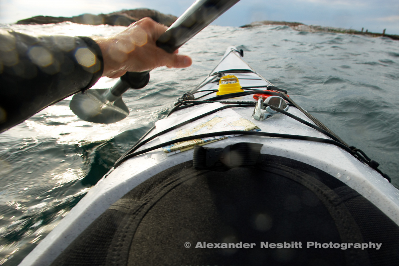 First Person POV - Kayaking off Sakonett Point