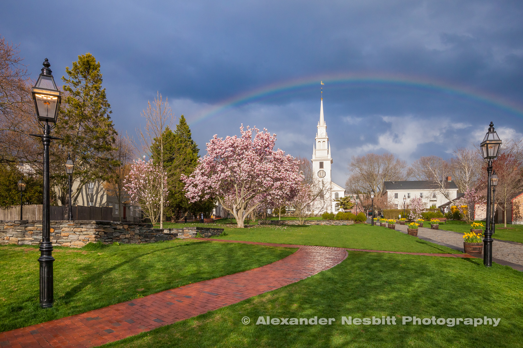 Rainbow over Trinity Church