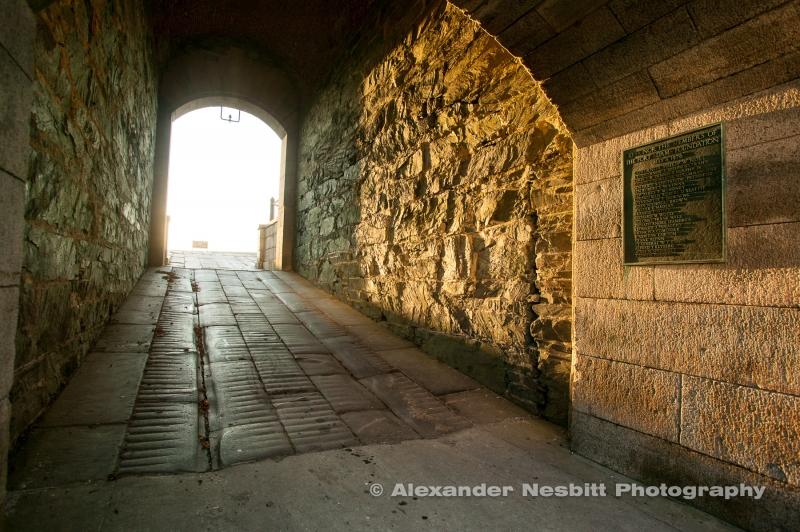 Gate top Fort Adams Quad