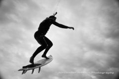 Mark Miedema kiteboarding - big airs on a strapless surfboard