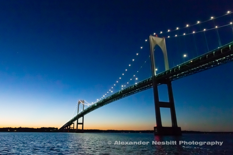 Newport Bridge Dusk