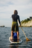 Stand up paddle boarding with kid