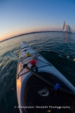 Fisheye lens - Kayaking on Narragansett Bay