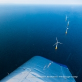 Flying over the Block Island Wind Farm