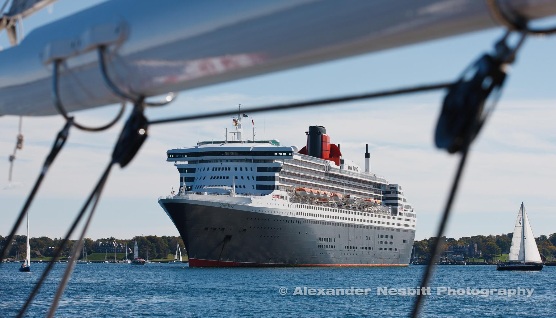 Queen Mary II in Newport