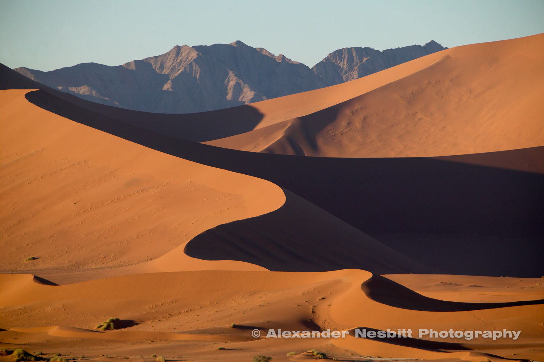 Namibia, Namib desert - Massive dune ridge deep in the Namib desert near the access point of Sossusvlei.