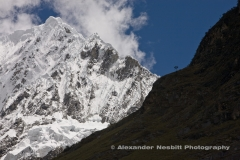 The famous Santa Cruz Trek crosses the Andes between some of it's grandest peaks, near Harez, Peru.
