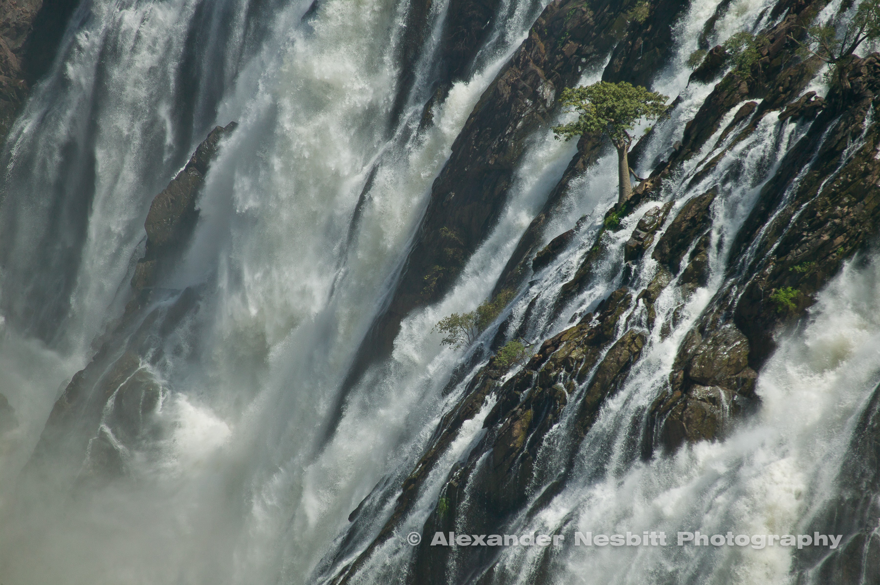 Ruacana falls during rainy season, Namibia