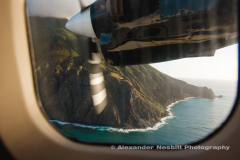 Flying into Saba